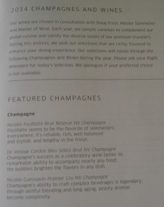 United 58 Featured Champagnes