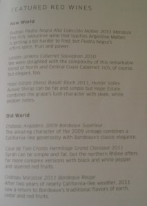 United 58 Featured Red Wines