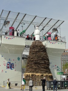 The Böögg figure that will be burned to celebrate the end of winter