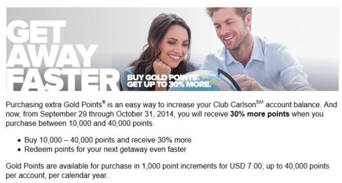 2014-10-03 Club Carlson Promo