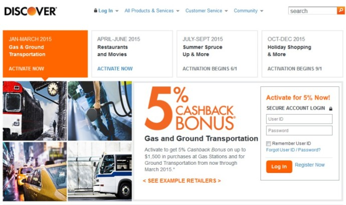 2015-03-14 Discover Q2 Bonus Categories