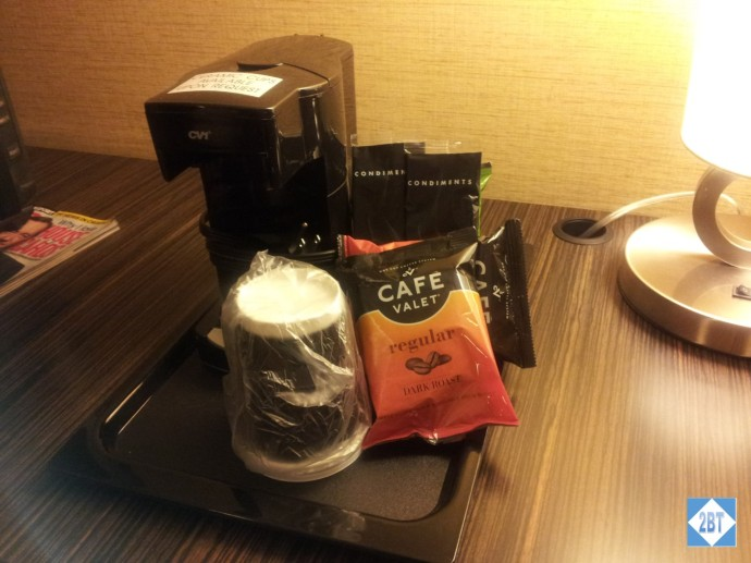 Crowne Plaza LAX Room 1623 Coffee Maker
