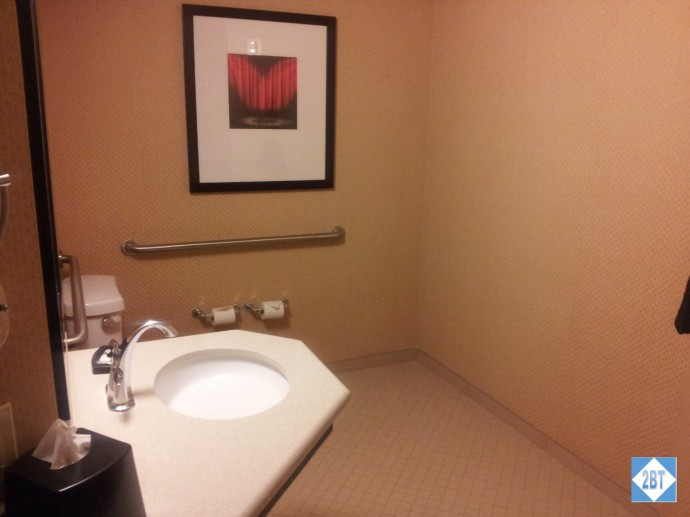 Crowne Plaza LAX Room 1623 Sink and Toilet