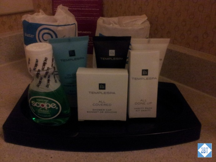 Crowne Plaza LAX Room 1623 Toiletries