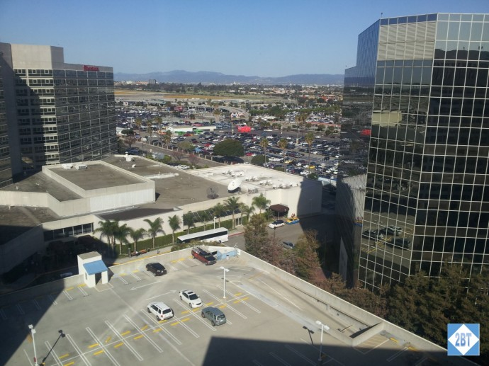 View from Crowne Plaza LAX Room 1623