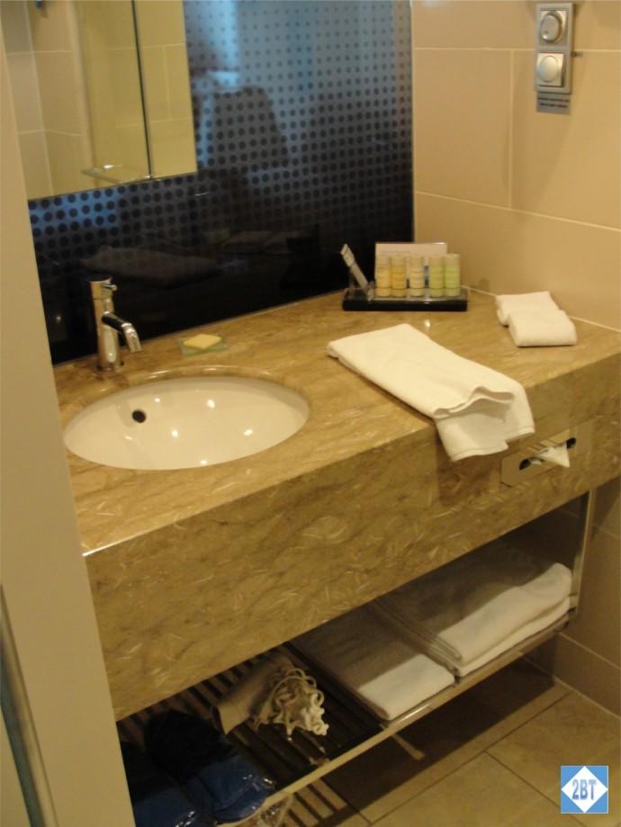 Radisson Blu Istanbul Twin Room Sink & Vanity