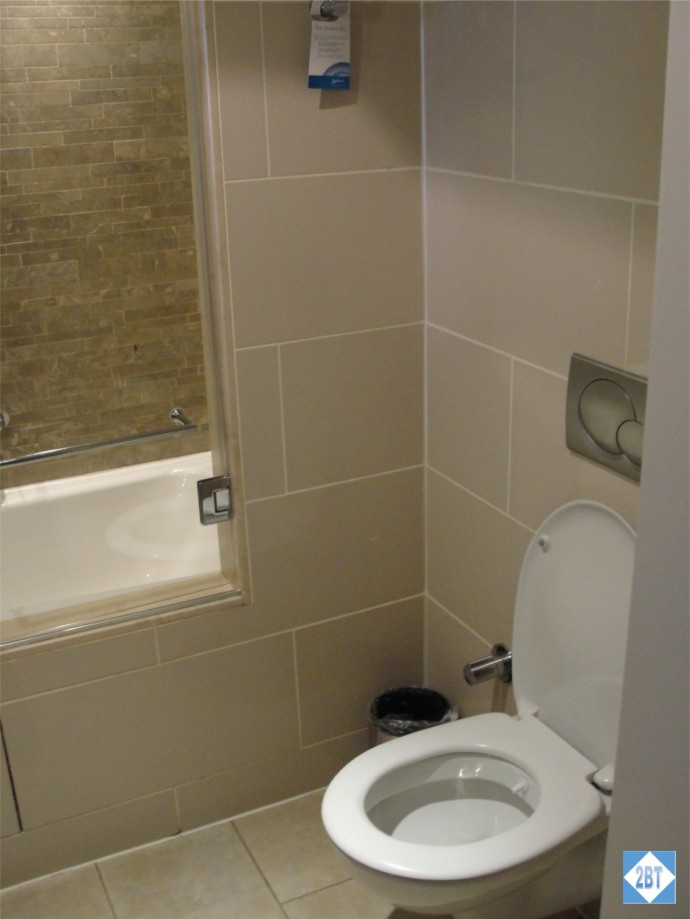 Radisson Blu Istanbul Twin Room Toilet - note the high step up to the tub