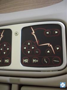 TK 33 Business Class Seat Controls