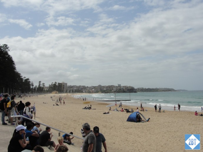 Soaking in the sun at Manly Beach