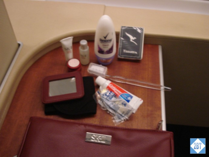 Qantas First Class Amenity Kit