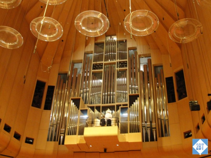 The massive organ inside the conference hall