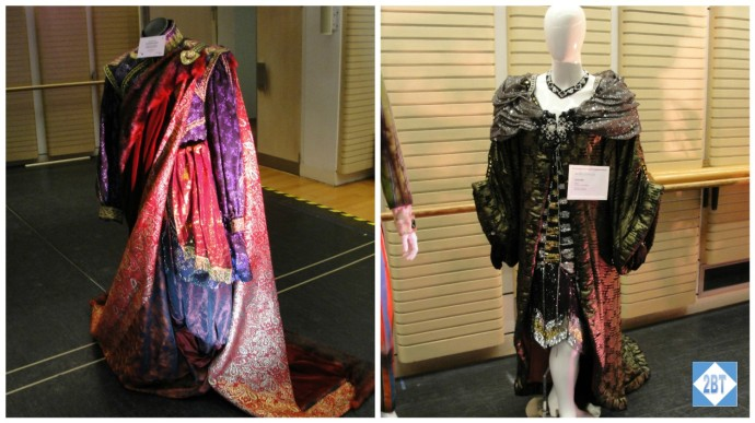 Some of the costumes on display