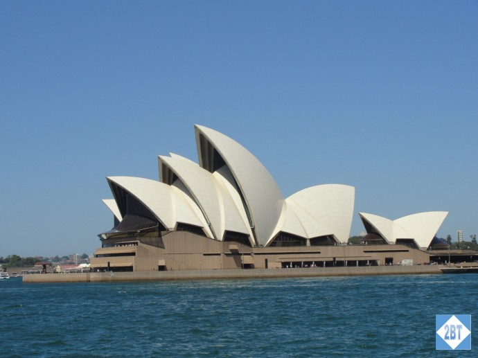 The iconic Sydney Opera House as viewed from the point in front of the Park Hyatt