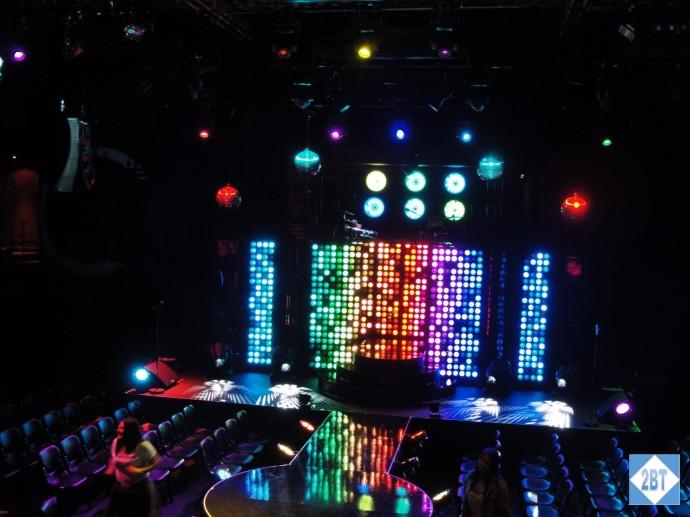 The Studio set up in cabaret mode