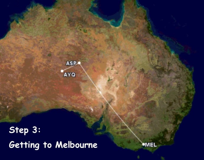GC Map to Melbourne