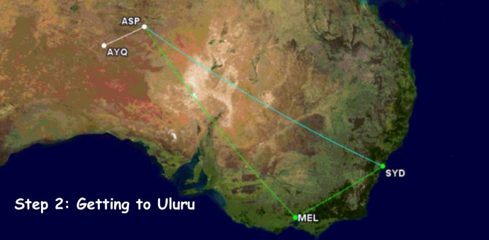 GC Map to Uluru