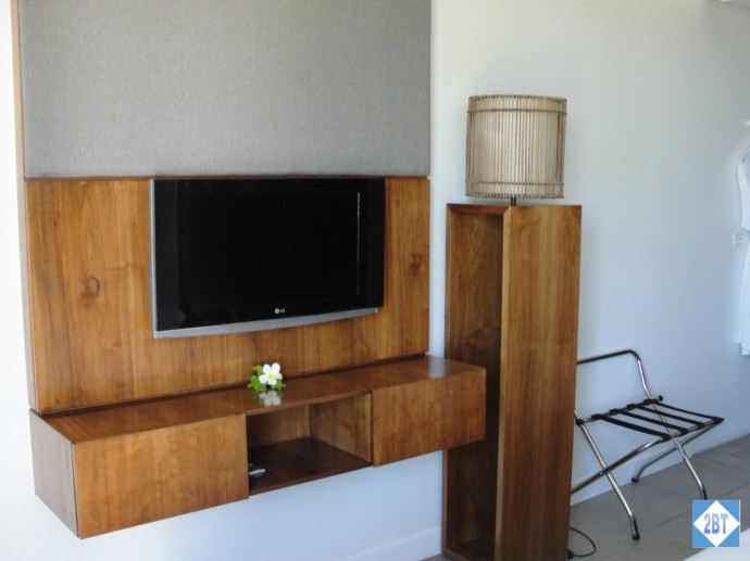 Entertainment center in the master bedroom