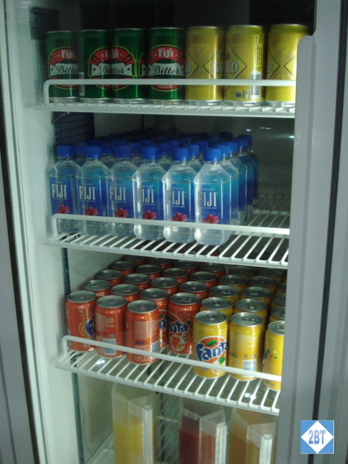 Fiji Air Tabua Lounge Cold Drinks