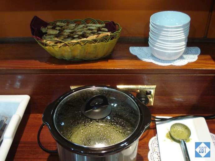 Fiji Air Tabua Lounge Soup
