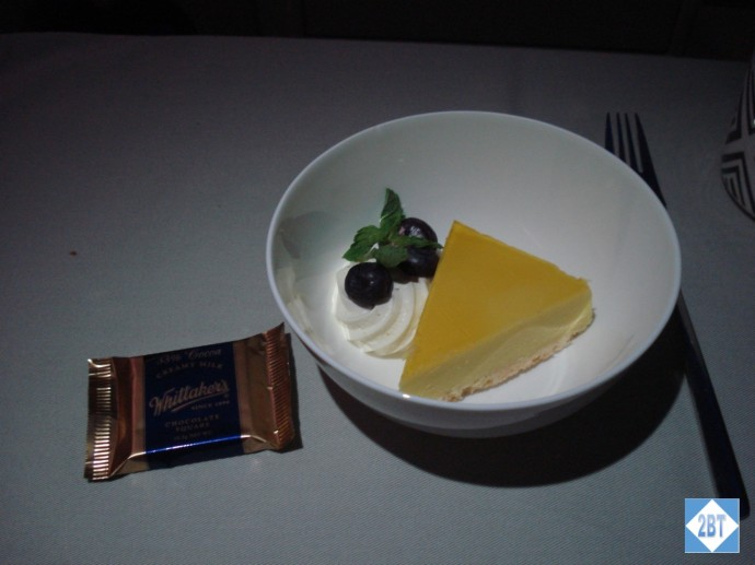 Fiji Airways Business Class Dessert