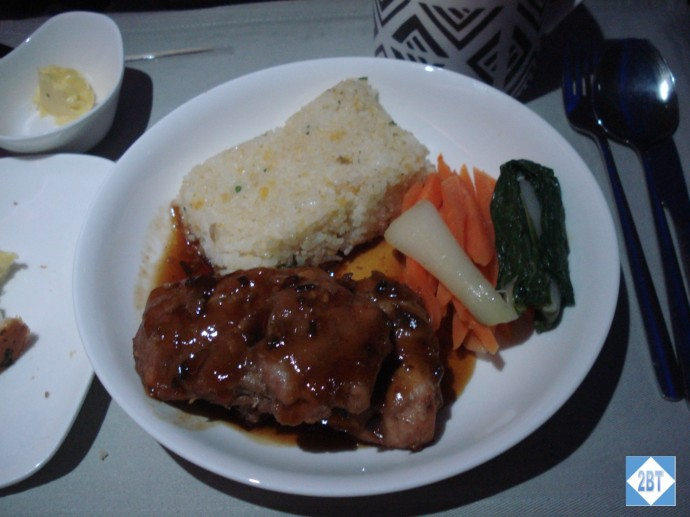 Fiji Airways Business Class Chicken with Fried Rice