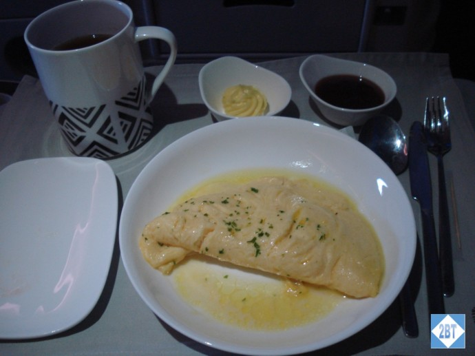 Fiji Airways Business Class Omlette