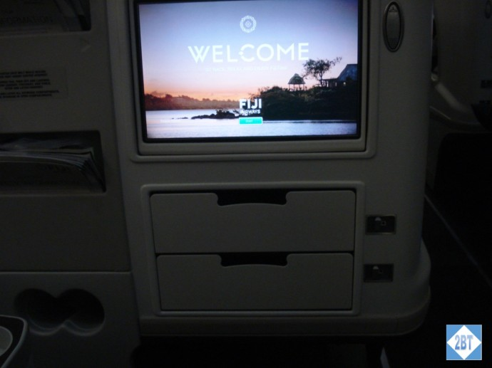 Fiji Airways Business Class TV