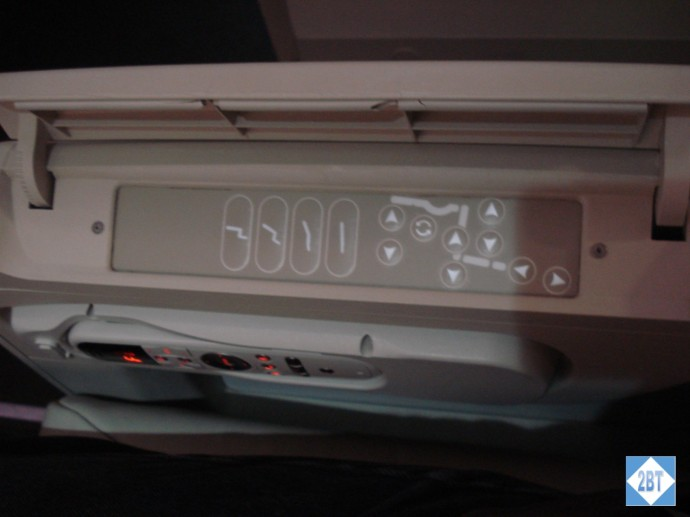Fiji Airways Business Class Seat Controller