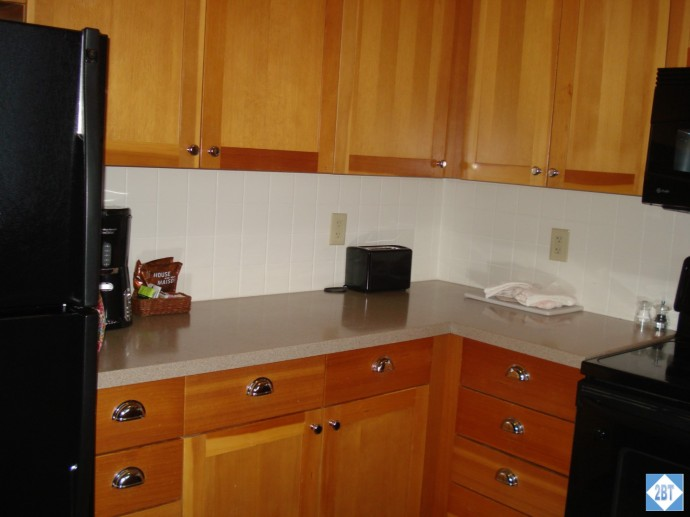 The toaster, coffee maker and various flavors of coffee come with the room
