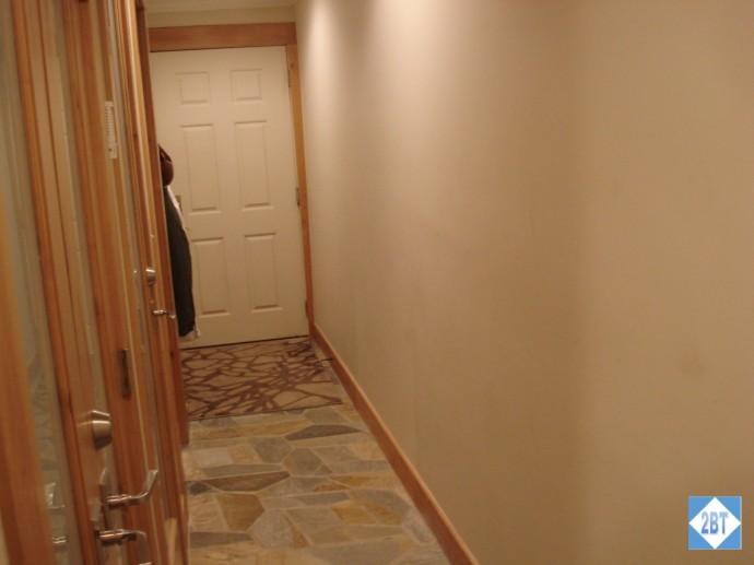 Hallway with front door