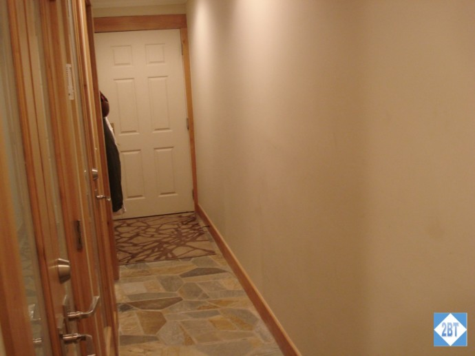 Hallway with front door