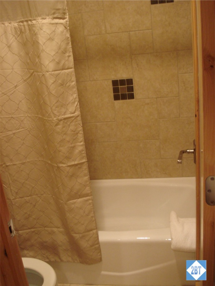 Hall Tub/Shower and Toilet
