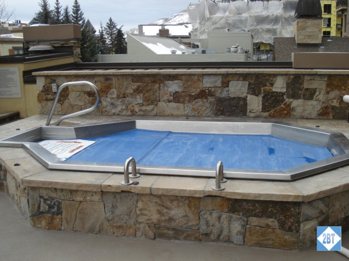 One of three identical hot tubs