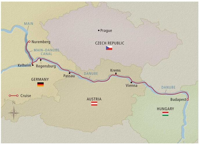 danube-cruise-map