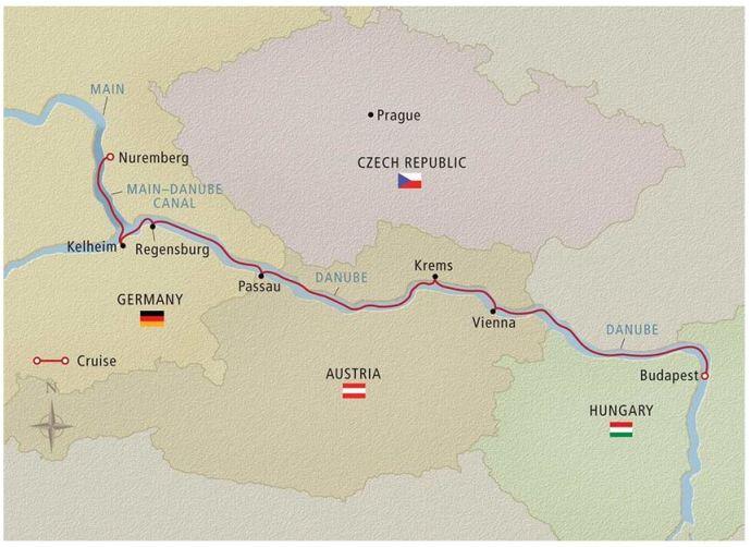 danube-cruise-map