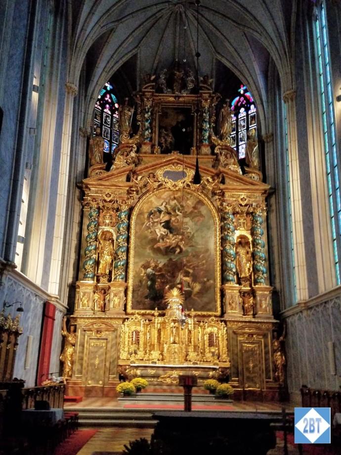 The high altar in the church at Göttweig Abbey