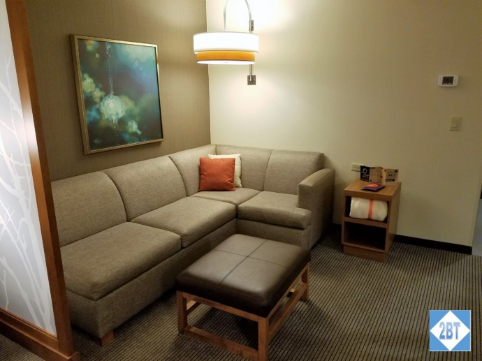 Hyatt Place DFW Sofa and Ottoman