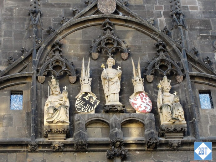 Detail of sculpture on the Charles Bridge Tower