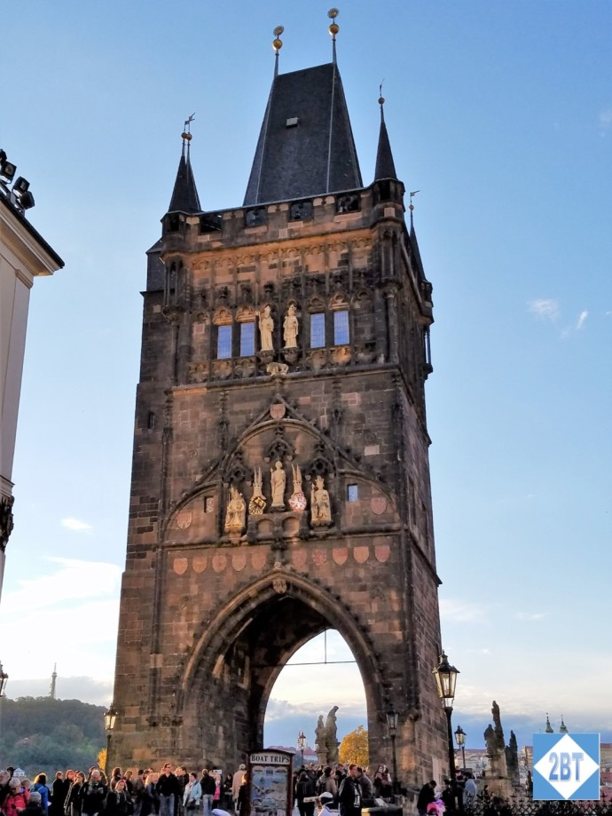 Tower on the Old Town side of Charles Bridge