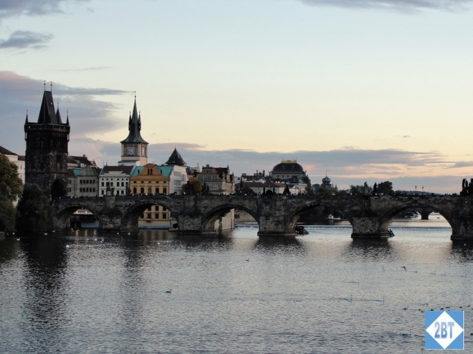 Charles Bridge at twilight