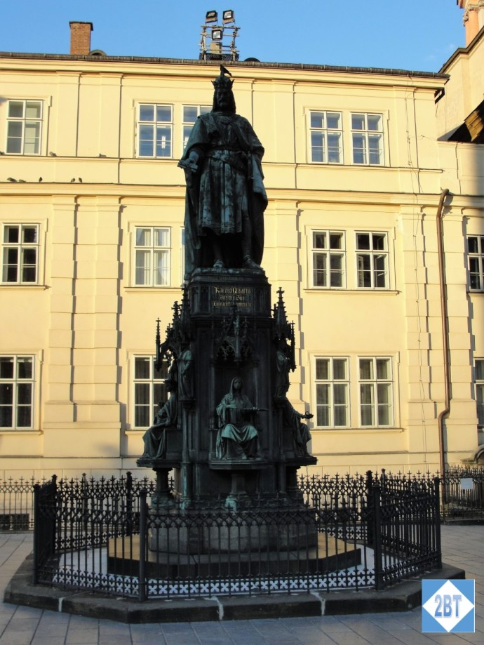 Statue of Charles VI near his namesake bridge