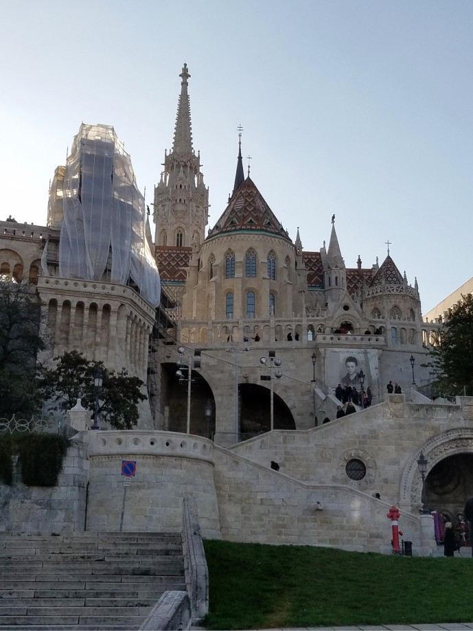 Fisherman's Bastion from below Castle Hill
