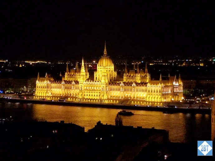 Parliament by Night as seen from the Fisherman's Bastion