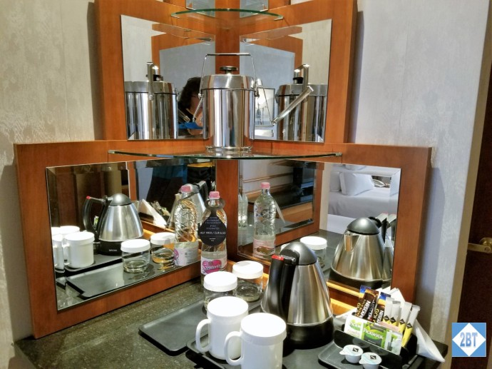 Twin Guest Room Coffee and Tea Station