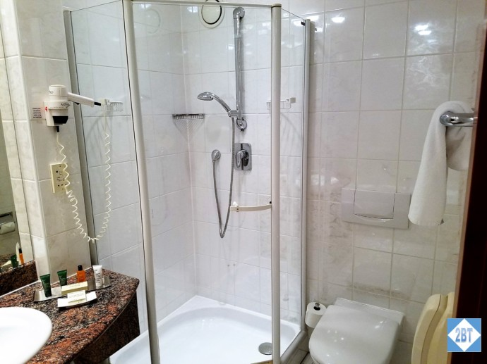 Twin Guest Room Shower and Toilet