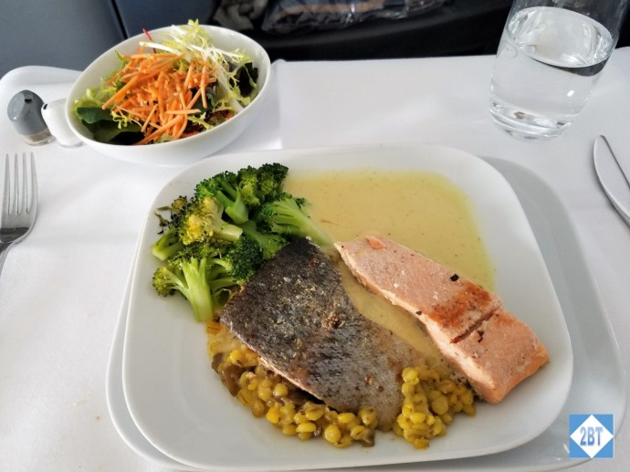 LH 430 Business Class Salmon Entree