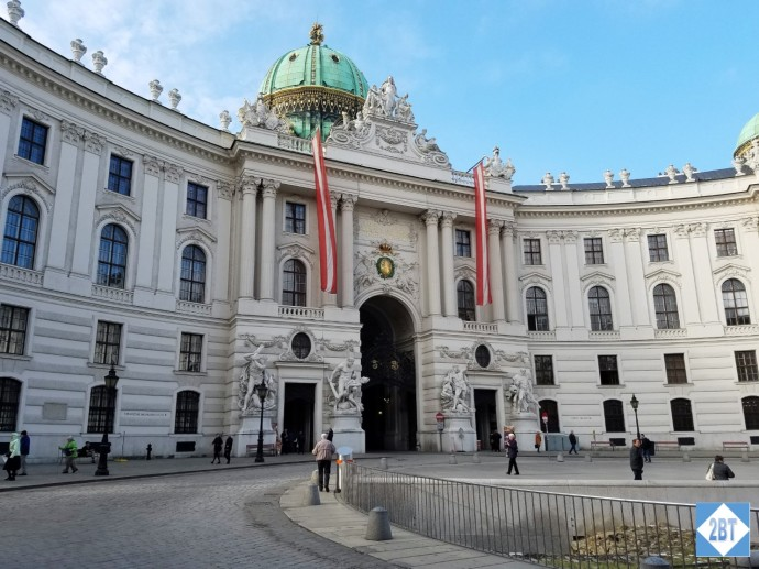 Just one of the many gorgeous facades of Hofburg Palace