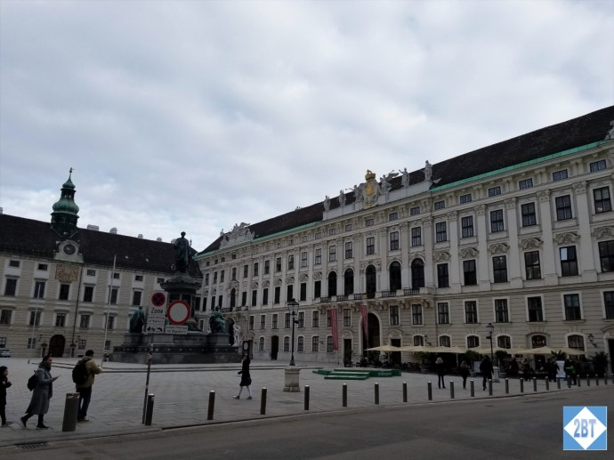 One of the many courtyards of Hofburg Palace