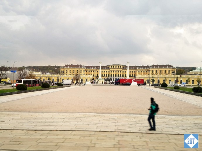 Schönbrunn Palace viewed from the bus