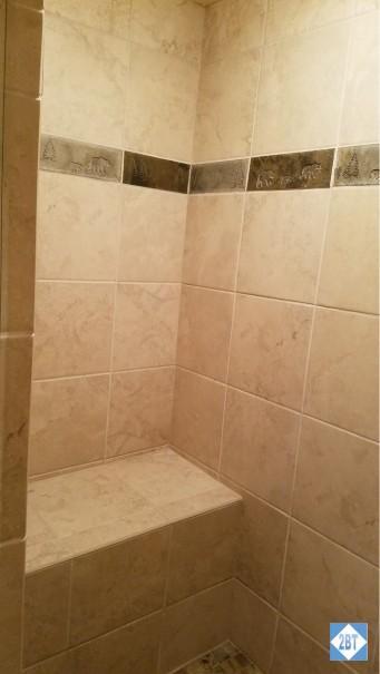 Bench inside Master Shower